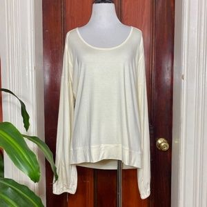 NWT Michael Kors cream long sleeve stretchy blouse